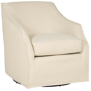 Contemporary Swivel Chair with Spring Down Cushion