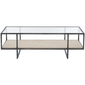 Contemporary Metal Rectangular Cocktail Table
