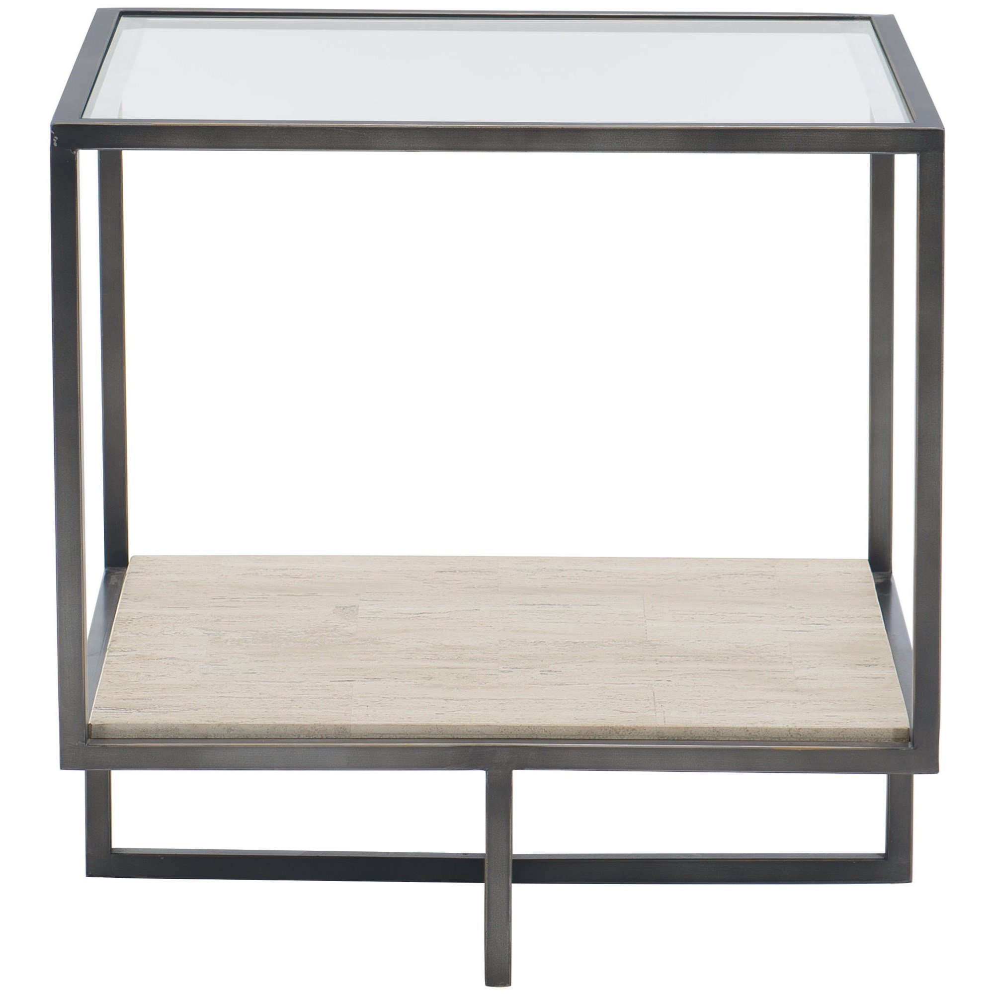 Harlow Metal Square End Table by Bernhardt at Darvin Furniture