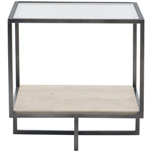 Contemporary Metal Square End Table