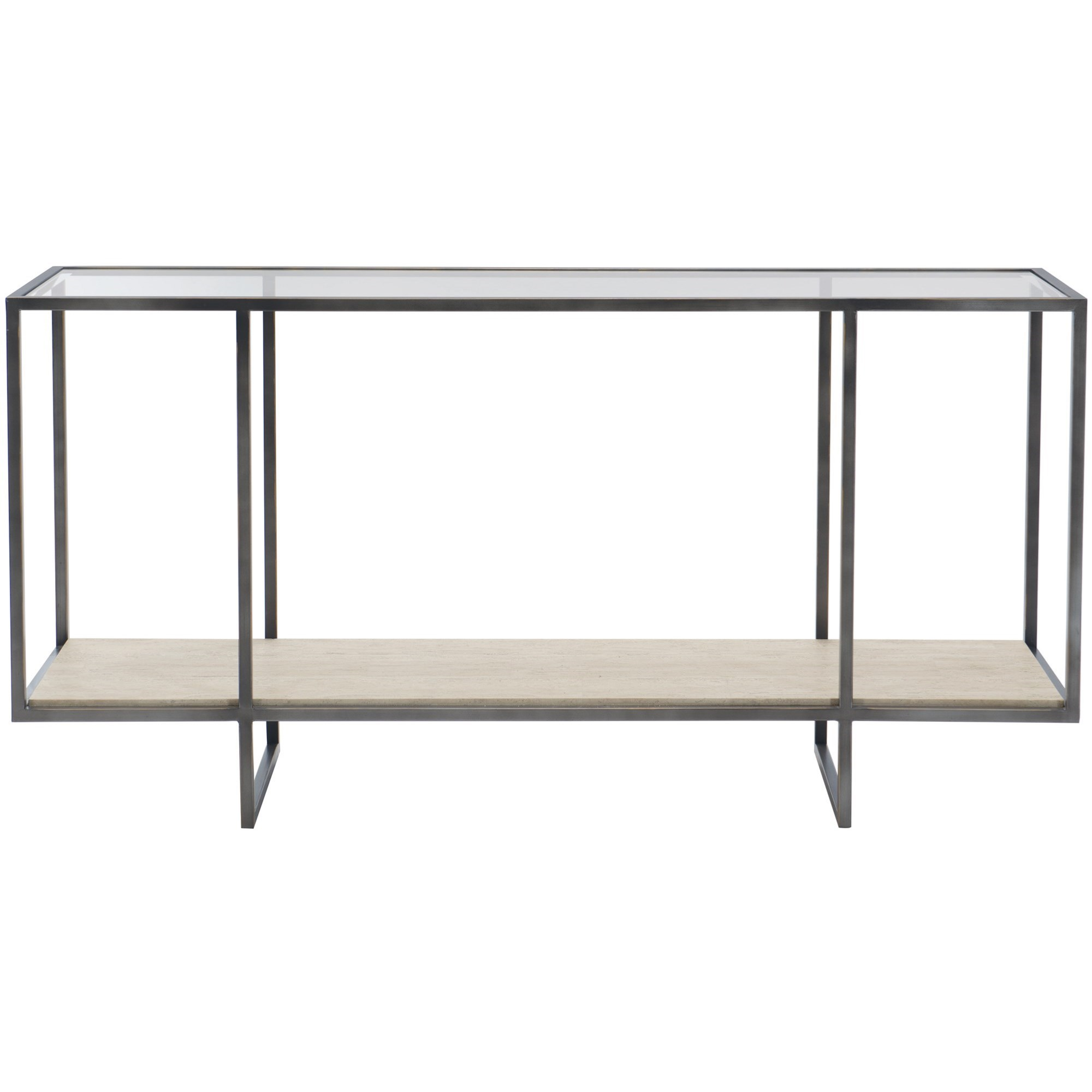 Harlow Metal Console Table by Bernhardt at Darvin Furniture