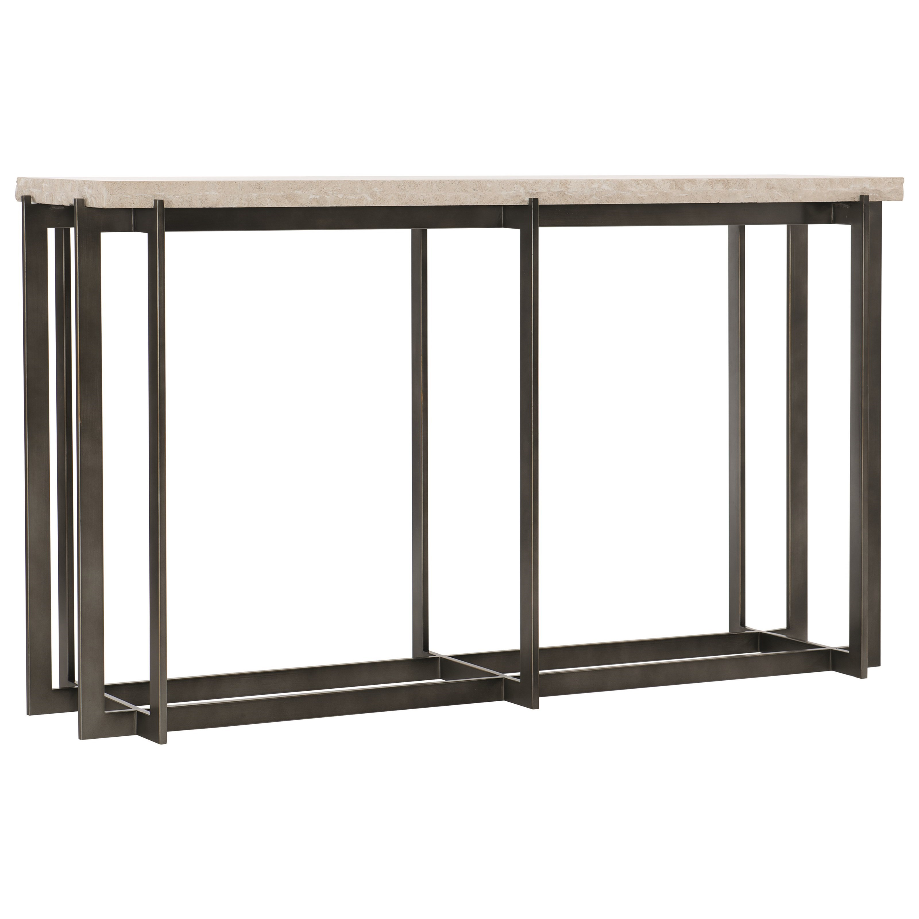 Hathaway Metal Console Table by Bernhardt at Darvin Furniture