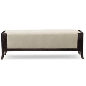 Accent Bench with Wood Frame and Upholstered Seat
