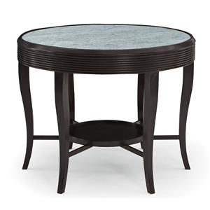 Bernhardt Haven Round Dining Table With Contemporary Metal