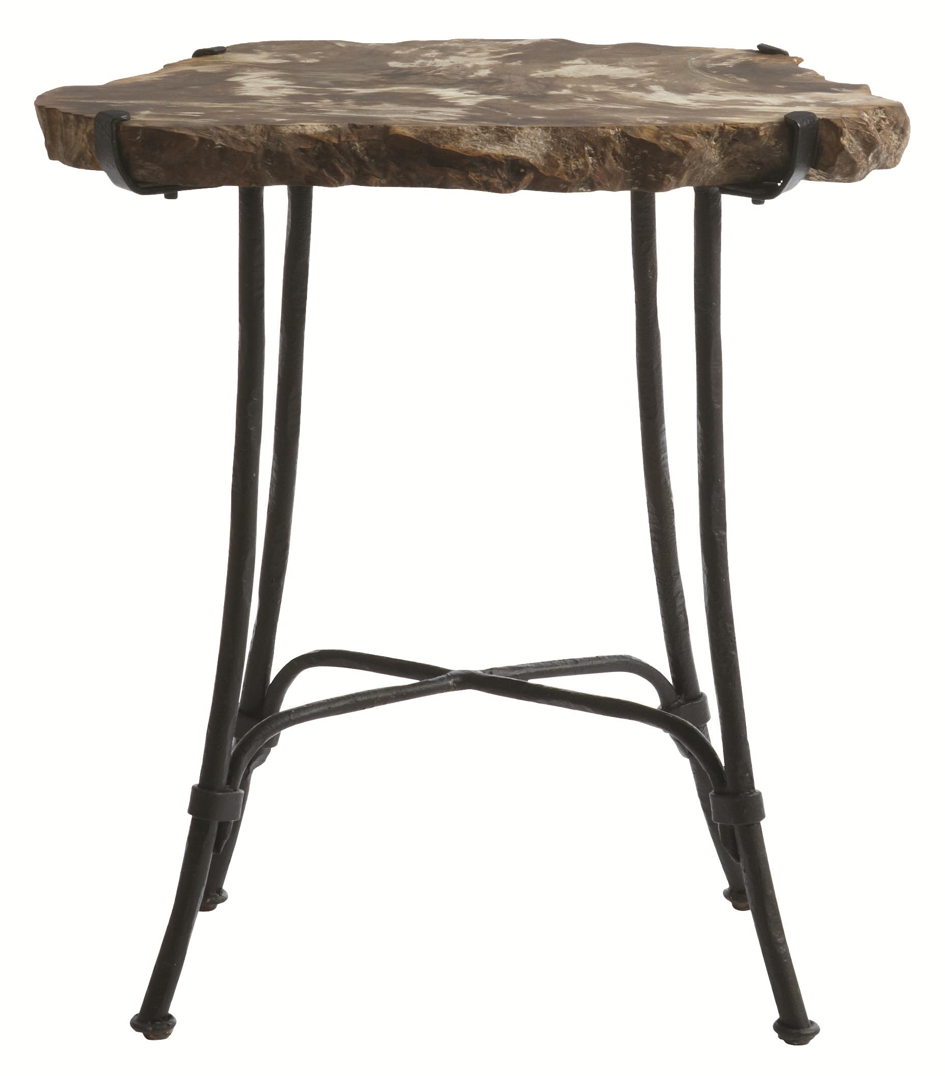 Interiors - Accents Petrified Wood Slab Side Table by Bernhardt at Baer's Furniture
