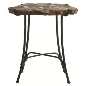 Petrified Wood Slab Side Table