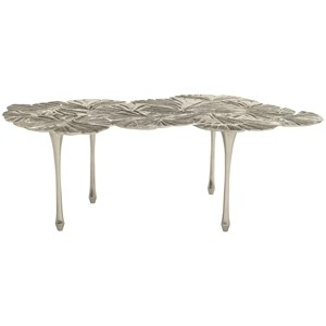 Ginko Leaf Aluminum Cocktail Table