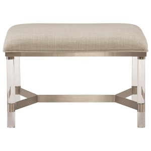 Upholstered Bench with Stainless Steel Frame