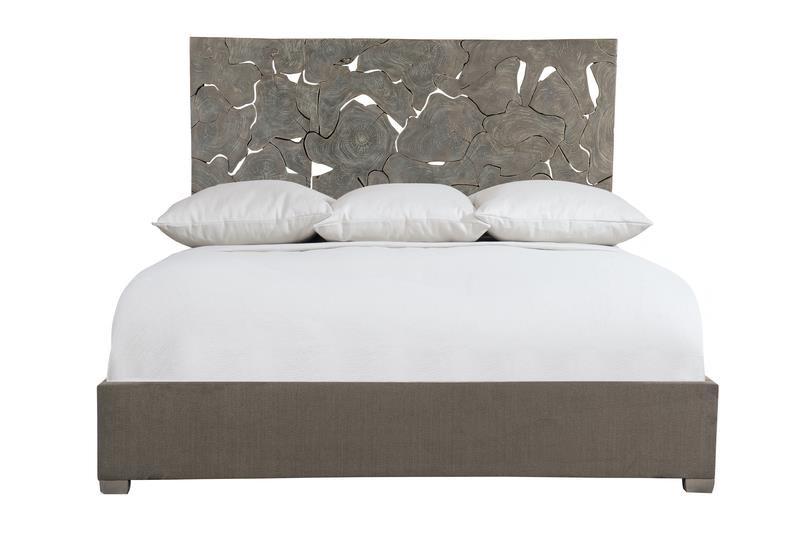 Interiors - Calavaras Laminated Teak Panel Bed by Bernhardt at Darvin Furniture