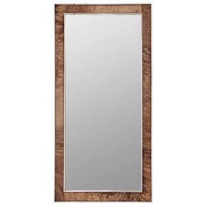 Contemporary Cow Hide Floor Mirror