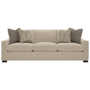 Contemporary Sofa with Sloped Arms