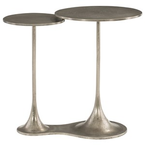 Contemporary Bunching End Tables with Connected Tops