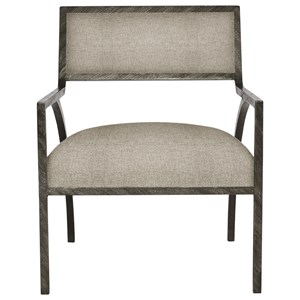 Contemporary Upholstered Iron Chair