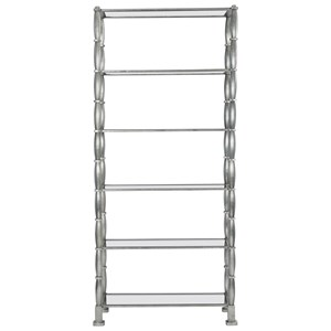 Etagere with 5 Tempered Glass Shelves