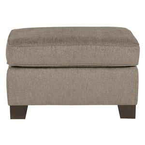 Simplistically Crafted Footrest Ottoman for Urban Accent to Living Room Chair