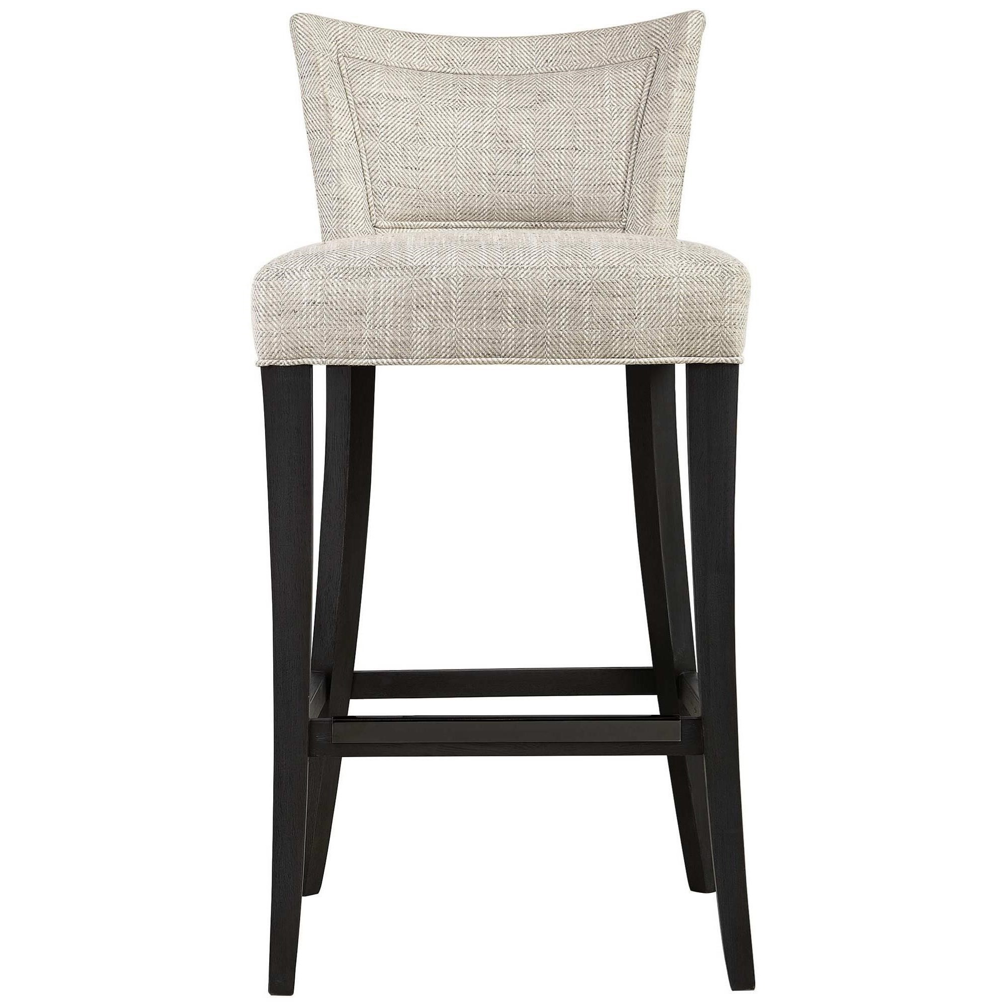 Interiors - Giles Bar Stool by Bernhardt at Esprit Decor Home Furnishings