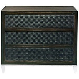 Bachelor's Chest with Woven Leather Front Drawers