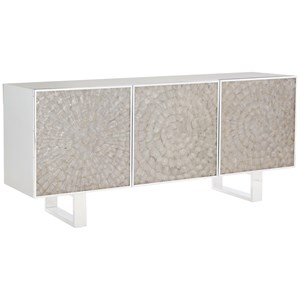 Contemporary Entertainment Console with 3 Soft-Closing Doors
