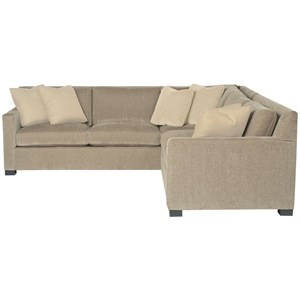 2 Piece Sectional with Track Arms