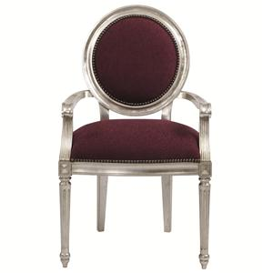 Louis Dining Arm Chair with Nailhead Trim