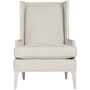 Contemporary Winged Back Chair