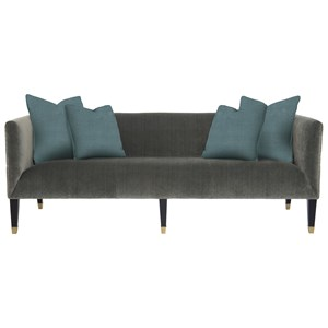 Settee/Sofa with Tuxedo Arms and Nailhead Trim
