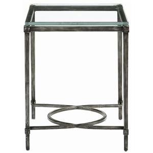 Palmer Metal & Glass End Table