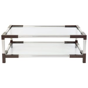 Mason Cocktail Table with Tempered Glass Shelf