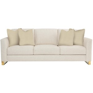 Contemporary Sofa with Polished Brass Legs