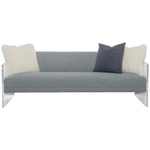 Contemporary Sofa with Clear Frame