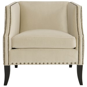 Chair with Fabric Inside and Leather Outside