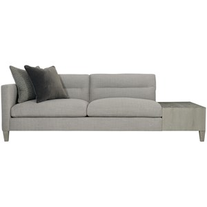 Contemporary Left Arm Sofa with Table