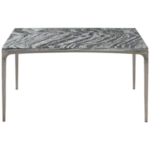Contemporary Marble Cocktail Table with Metal Legs