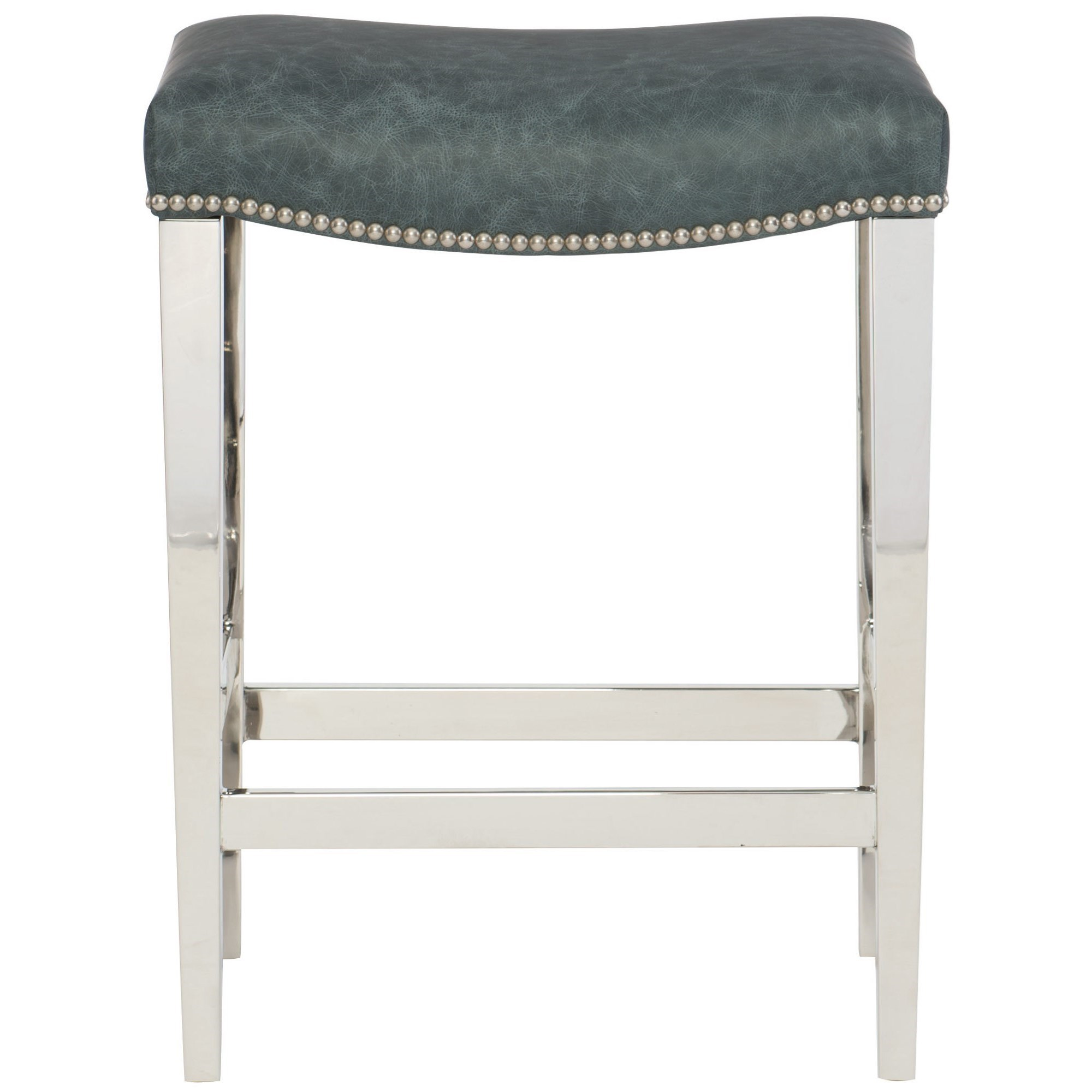 Interiors - Thorpe Leather Counter Height Stool by Bernhardt at Nassau Furniture and Mattress