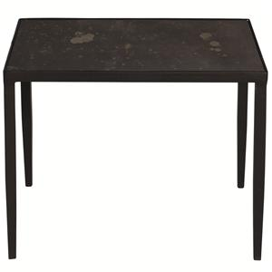 Square End Table with Inset Bronze Mirror Glass Top