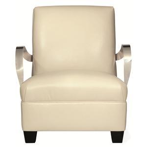 Bernhardt Interiors - Chairs Markham Leather Chair