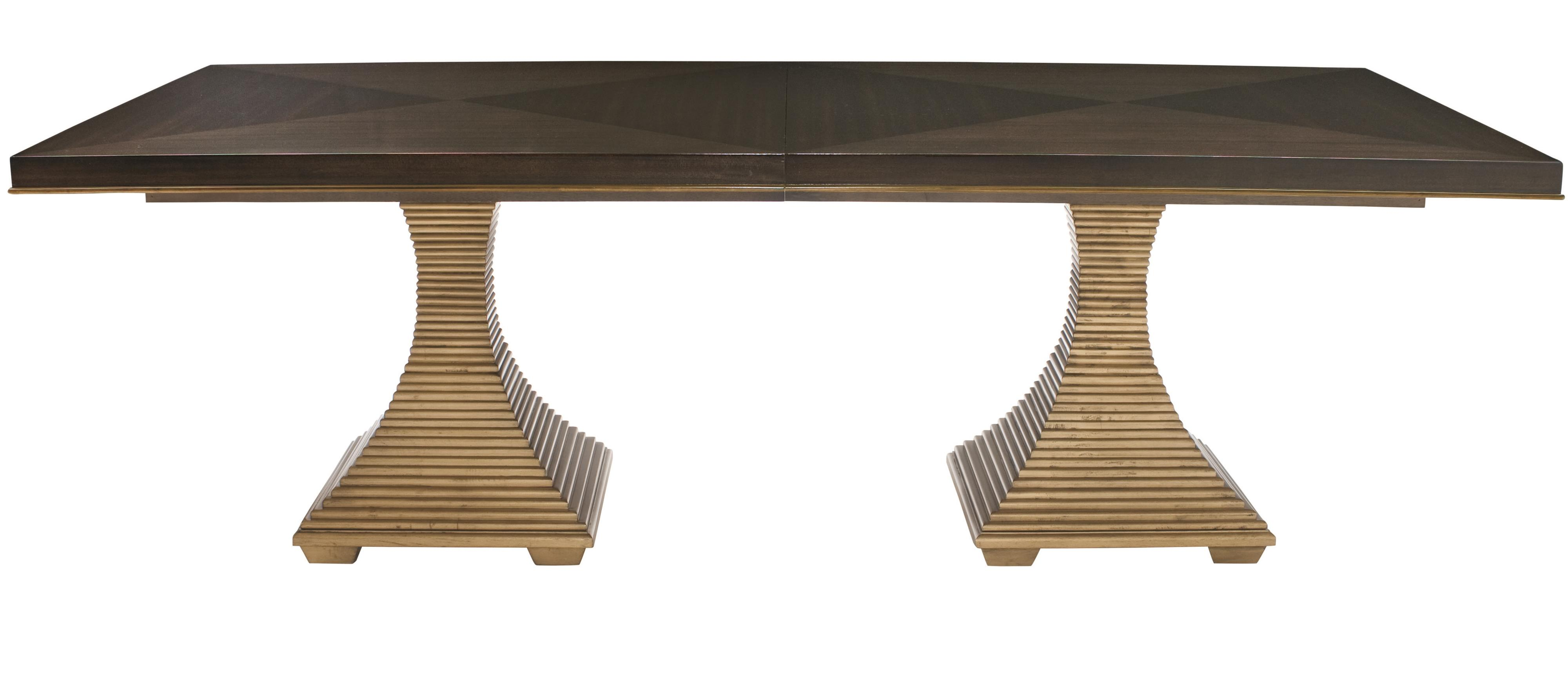 Jet Set Double Pedestal Dining Table at Williams & Kay