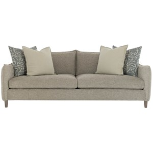 Contemporary Sofa with Comfort Luxe Feather Down Cushions