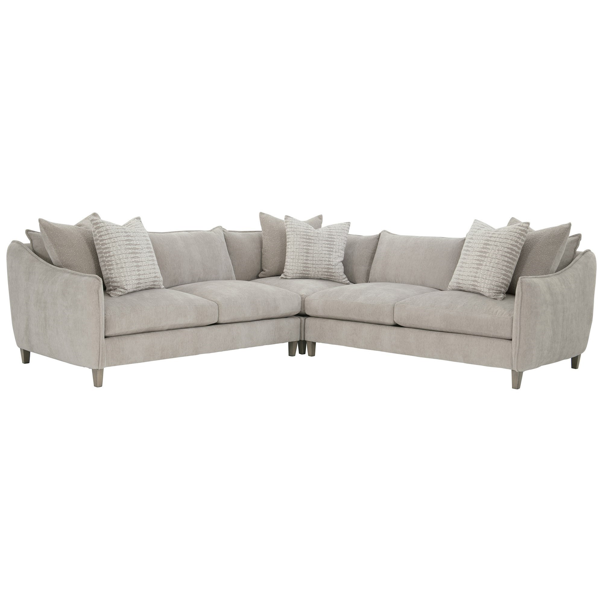 Joli 3-Piece Sectional by Bernhardt at Fisher Home Furnishings
