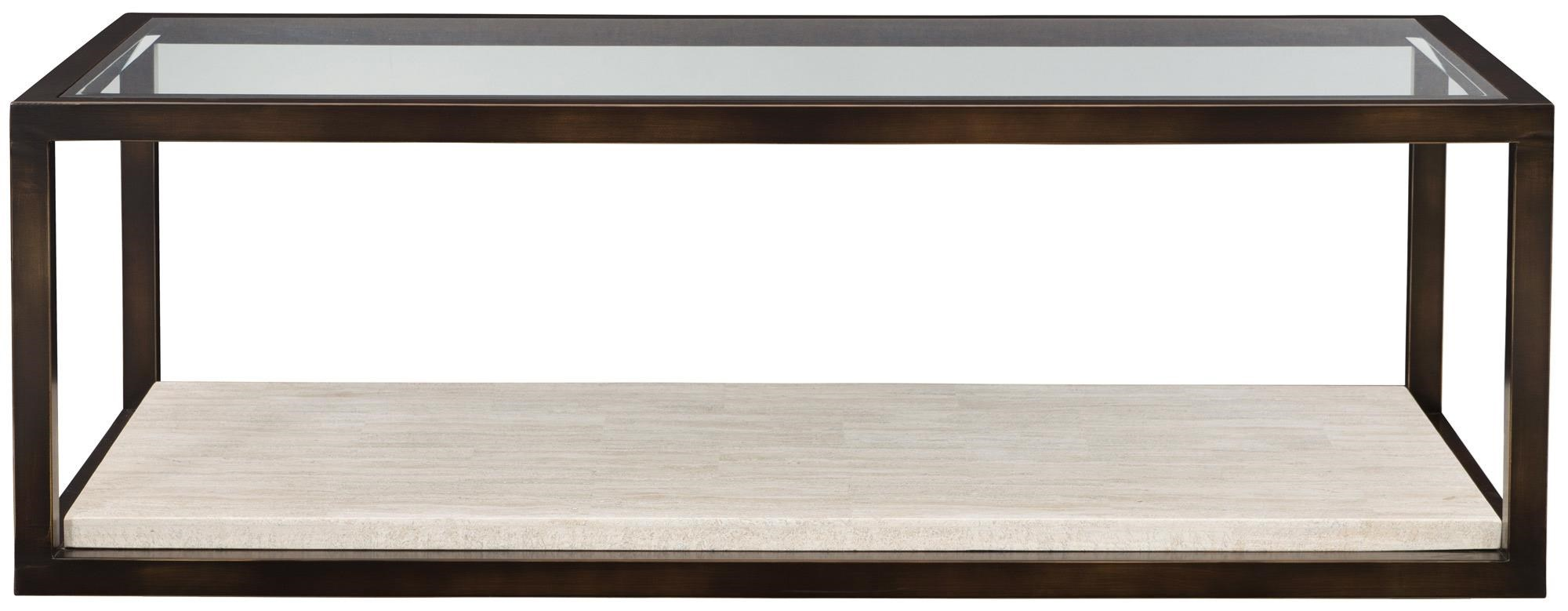 Kinsley Castered Cocktail Table by Bernhardt at Darvin Furniture