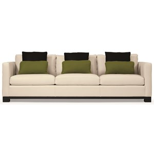 Modern Styled Sofa with Slight Asian Influence in Short Sofa Size