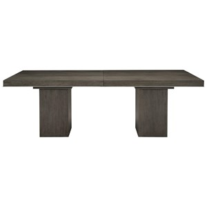 Transitional Rectangular Dining Table with Leaf