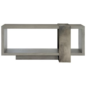 Contemporary Console Table with Metal Band