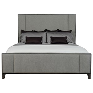 Customizable Contemporary King Upholstered Bed with Panel Design
