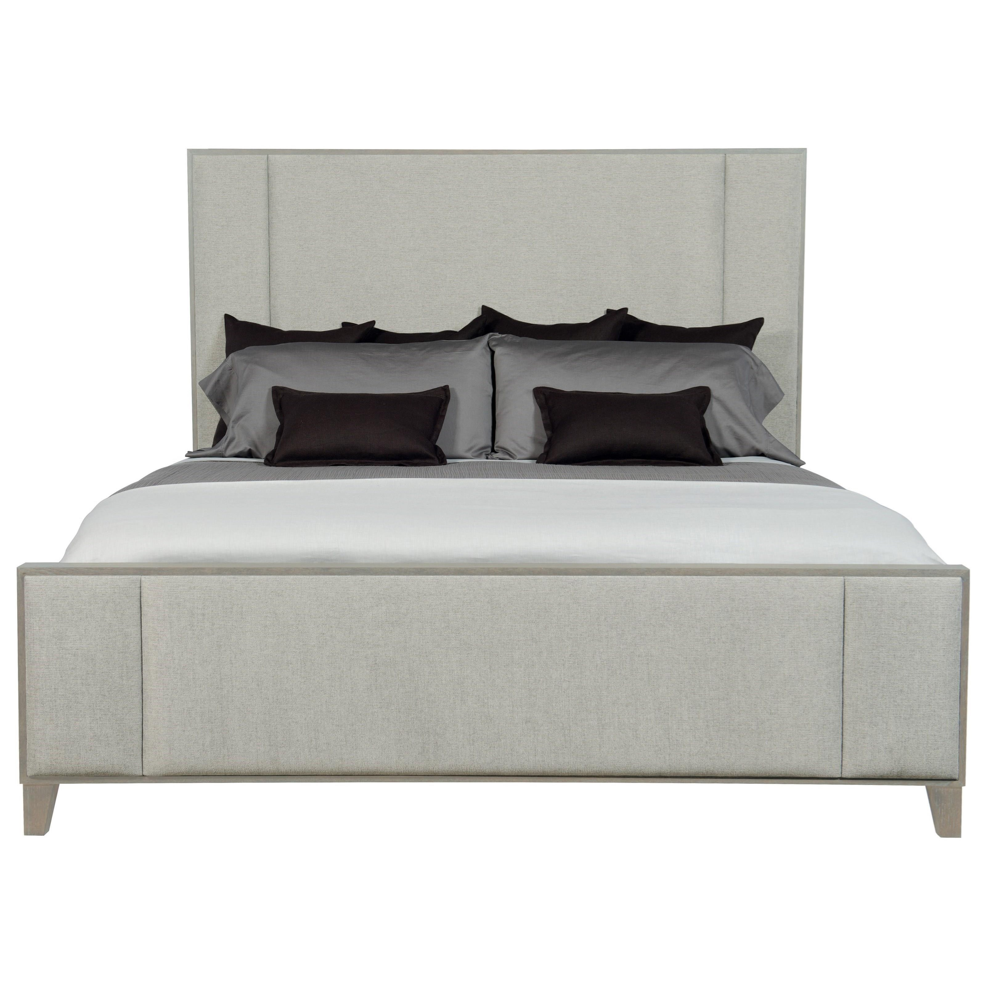 Linea King Upholstered Panel Bed by Bernhardt at Stuckey Furniture