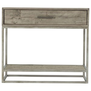 Alvar Rustic-Modern Nightstand with 1 Drawer