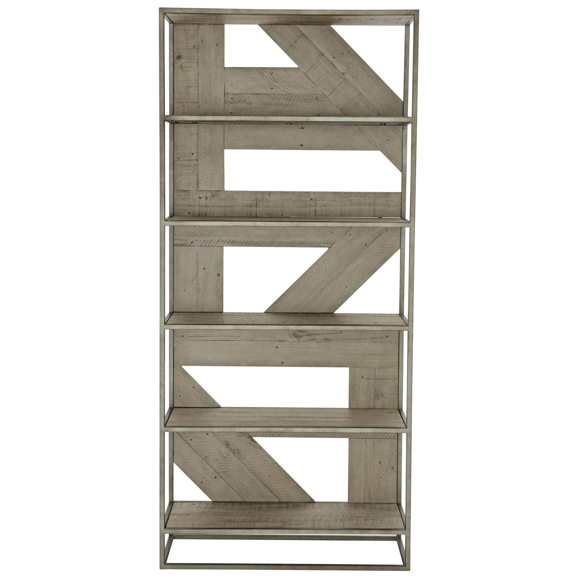 Loft - Highland Park Alvar 5-Shelf Bookcase by Bernhardt at Baer's Furniture