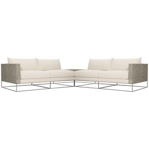 Contemporary Sectional with Corner Table