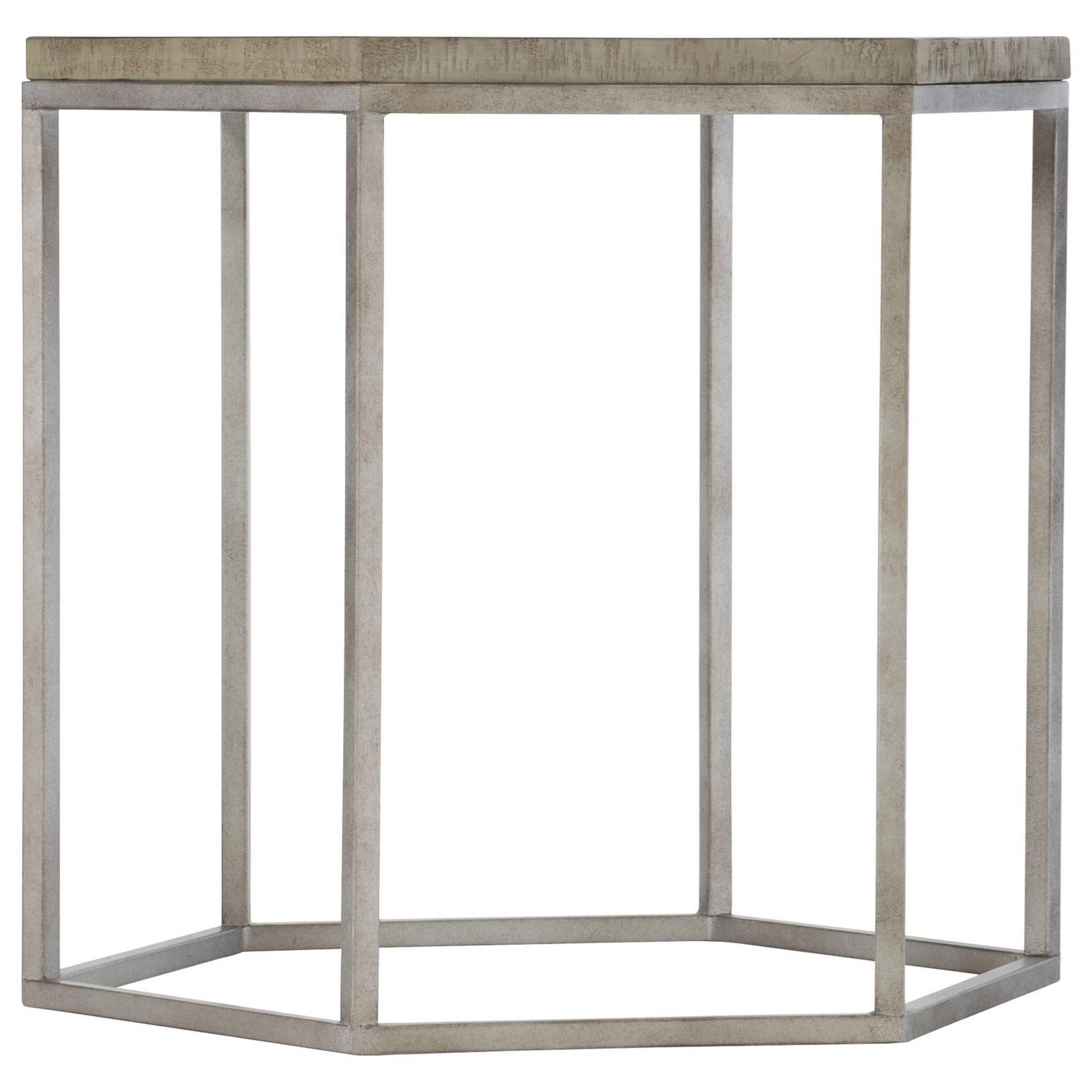 Loft - Highland Park Gresham Hexagonal End Table by Bernhardt at Baer's Furniture