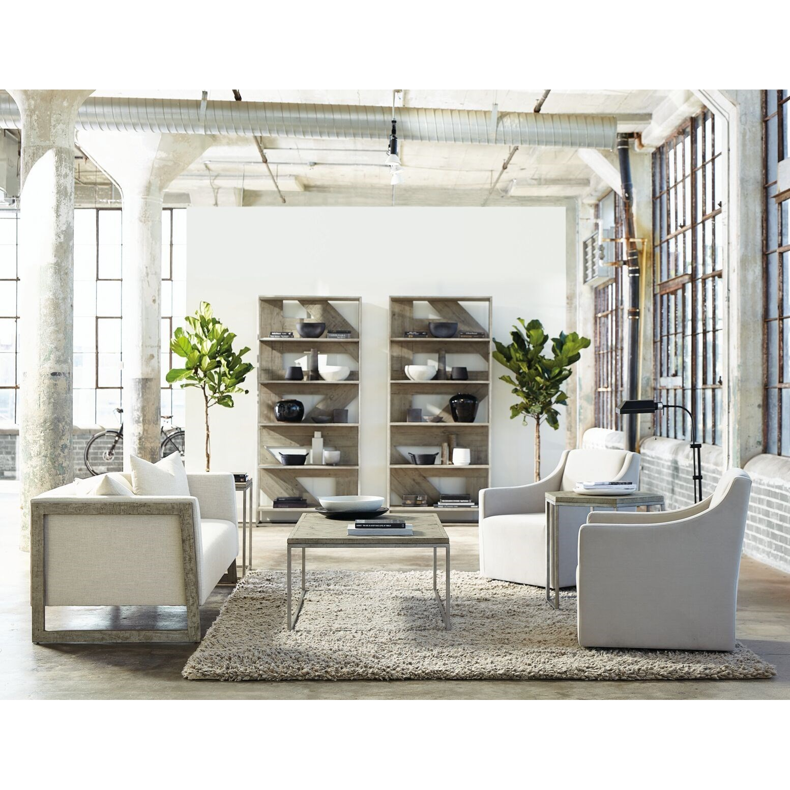 Loft - Highland Park Living Room Group by Bernhardt at Baer's Furniture